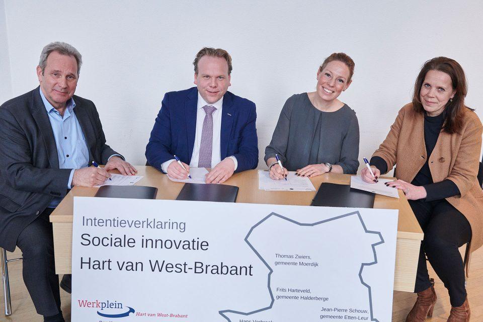 Ondertekening intentieverklaring Sociale innovatie Hart van West-Brabant