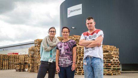 Angelique is verkozen tot medewerkster van de maand bij Bleckmann