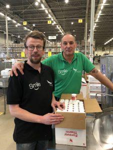 Bart met zijn werkleider Paul
